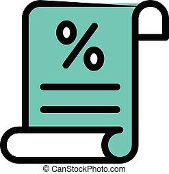 taxation vector colour line  icon