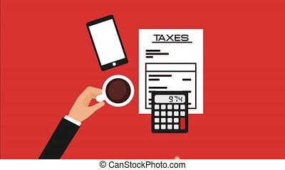 taxes concept design, Video Animation HD1080