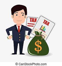 Taxes design. - Taxes design over white background, vector ...