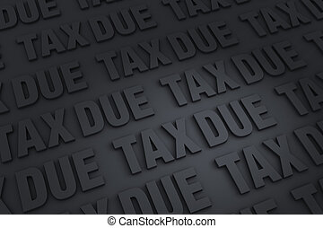 Taxes Due Background