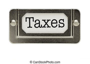 Taxes File Drawer Label