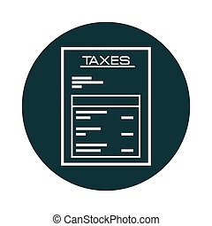 taxes paper receipt icon