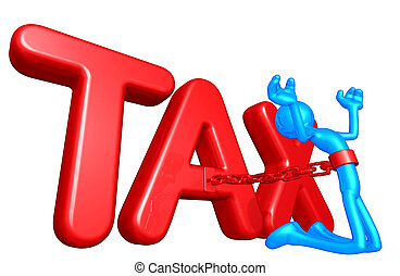 Taxes - A Concept And Presentation Illustration In 3D