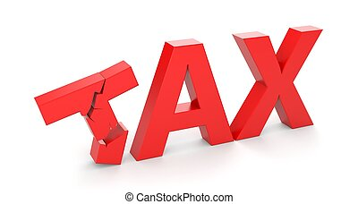 Taxes - Business concept. Isolated on white