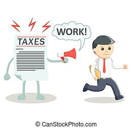 Taxes working illustration