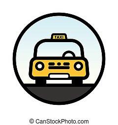 taxi, amarillo