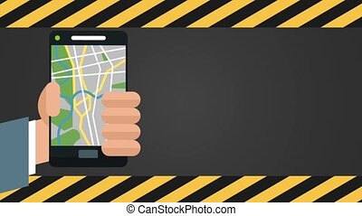 Taxi application design HD animation