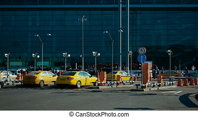 taxi at the airport