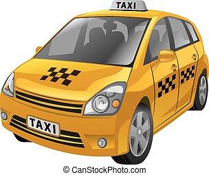 taxi, autó