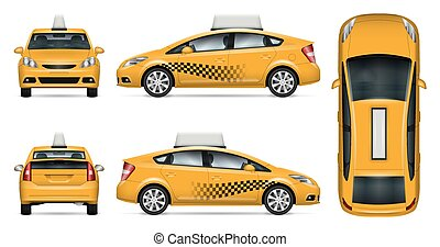 taxi, auto, vector, model