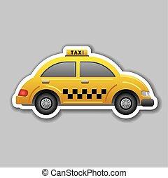 taxi, autocollant