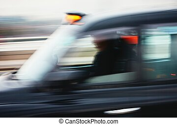 taxi, automobilen, motion