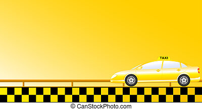 taxi background with road