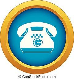 taxi, bleu, isolé, téléphone, vecteur, icône