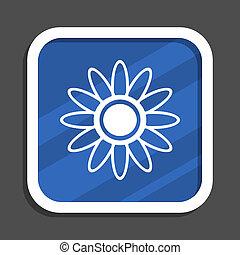 Taxi blue flat design square web icon