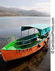 taxi boat in Ohrid Macedonia