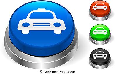 taxi, botón, icono, internet