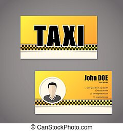 Taxi business card template with driver photo