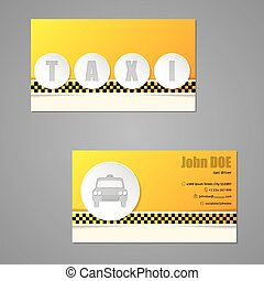 Taxi business card with 3d buttons