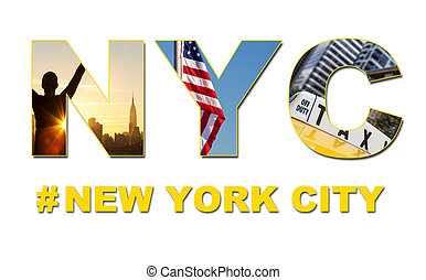 taxi, byen, turist, rejse, york, nye, cab