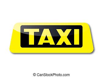 taxi cégtábla