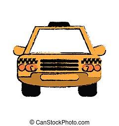 taxi cab car public transport sketch