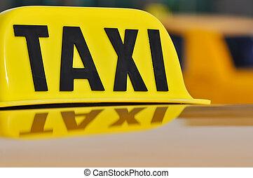 Taxi Cab Close Up