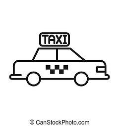 taxi cab illustration design
