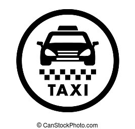taxi cab services icon - taxi cab services isolated round...