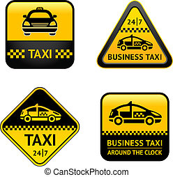 Taxi cab set labels