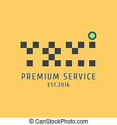 Taxi, cab vector logo, icon