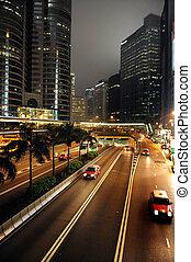 Taxi cabs in Hong Kong, China