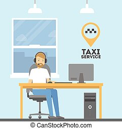 Taxi call service.