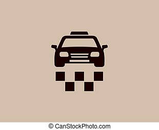 taxi car background icon