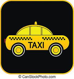 Taxi car button