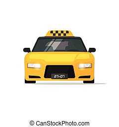 Taxi car cab vector icon isolated on white background