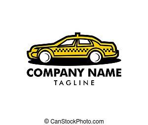 Taxi car logo template vector icon illustration design