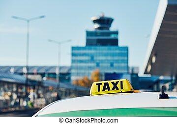Taxi car on the street