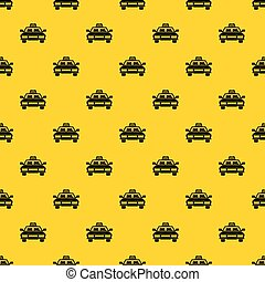 Taxi car pattern vector