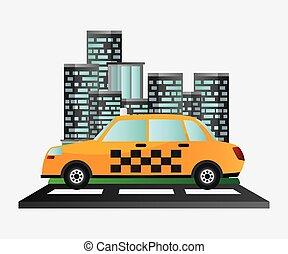 taxi car service public transport urban background