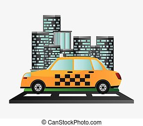 taxi car service public transport urban background