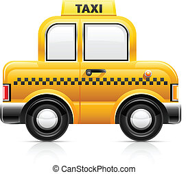 taxi car vector illustration isolated on white background