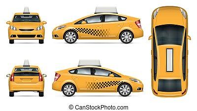 Taxi car vector mock-up