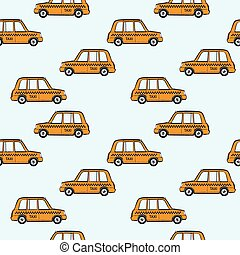 taxi cars pattern