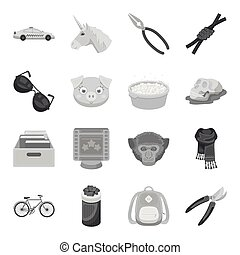 Taxi, cleaning, animals and other web icon in monochrome style.History, Education, Sports icons in set collection.