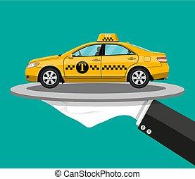 taxi, concept, service