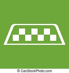taxi, contrôleur, vert, icône