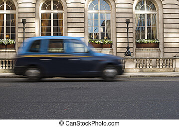 taxi taxi mouvement jaune taxi ville jaune colorfull photographie de stock. Black Bedroom Furniture Sets. Home Design Ideas