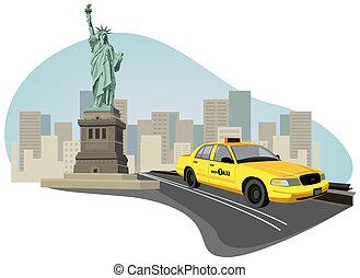 taxi de la ciudad de nueva york