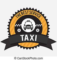 Taxi design over white background, vector illustration